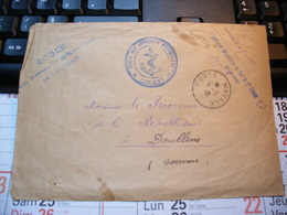 Partie D' Enveloppe - Ecole Des Apprentis Mécaniciens De LORIENT. Poste NAVALE  Procureur De La République DOULLENS 1940 - Autres