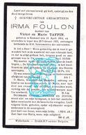 DP Irma Foulon / Taffin 18j. ° Kemmel 1914 † Ieper 1933 - Devotieprenten