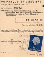 5 V 65 Stortingsbewijs Voor Artis  Amsterdam Kerkstraat - Briefe U. Dokumente