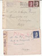 7 Enveloppes D'Allemagne Vers La Belgique  Guerre 1940/45    Censures   3 Scan - Guerra 40 – 45