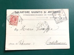 VITTORIA COMMISSIONARIO IN VINI  SALVATORE GIURATO DI ANTONINO  1908   UVA  VINO - Vittoria