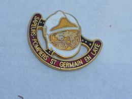Pin's SAPEURS POMPIERS DE SAINT GERMAIN EN LAYE C - Pompiers