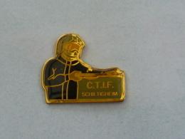 Pin's SAPEURS POMPIERS, C.T.I.F. SCHILTIGHEIM - Firemen