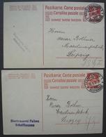 Schaffhausen (Shaffouse) Bierbrauerei Falken Lot De Deux Entiers Postaux De 1919 Et 1922 Brasserie Bière (Suisse) - Interi Postali