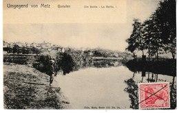 Moselle Umgegend Von METZ Queulen Die Seille La Seille (pêcheur) - Metz