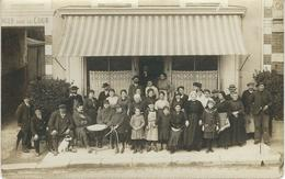 LAMBALLE : CARTE PHOTO - Hotel Bertin - Avec Réfugiés Belges Pendant GUERRE 14-18 WW1 - Lamballe