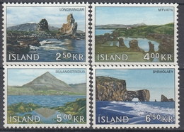 +Iceland 1966. Definitives : Landscapes. Michel 400-03. MNH(**). - 1944-... Republic