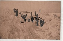 CPA - 25 - CHATELBLANC - Hiver 1933-1934 - Déblaiement D'une Tranchée - Chemin De Fer Enneigé - Autres Communes