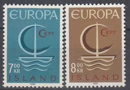 +Iceland 1966. EUROPA. Michel 404-05. MNH(**). - 1944-... Republique