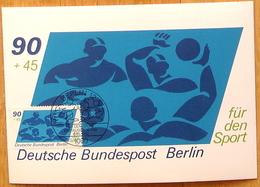 """BERLIN Allemagne Germany 1980: Michel-No. 623 Maximumkarte """"WASSERBALL"""" Mit O BERLIN 8.5.1980 FÜR DEN SPORT - Wasserball"""
