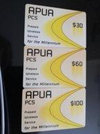 ATIGUA $30,- $60,-$100,- APUA Pcs Millennium Prepaid  **098 ** - Antigua And Barbuda