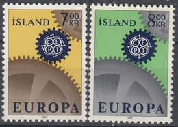 +Iceland 1967. EUROPA. Michel 409-10. MNH(**). - 1944-... Republique