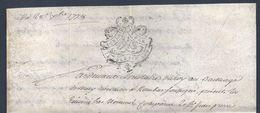 Véritable Parchemin Manuscrit Acte Notarié Du 28 Décembre 1778 Notaire Résident à Rombas Moselle - Manuscritos