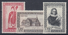 +Iceland 1956. Church 900 Years. Michel 300-02. MNH(**). - 1944-... Republic