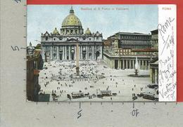 CARTOLINA VG ITALIA - ROMA - Basilica Di S. Pietro In Vaticano - 9 X 14 - 1904 - San Pietro