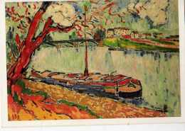 Maurice De VLAMINCK Peniche Sur La Seine A Chatou - Paintings