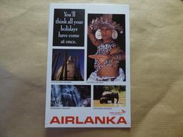 AIRLINE ISSUE / CARTE COMPAGNIE    AIR LANKA - 1946-....: Modern Era