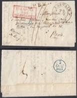 BELGIQUE  LETTRE DATE DE LOUVAIN 29/09/1835 VERS PARIS (DD) DC-7182 - 1830-1849 (Independent Belgium)