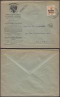 """BELGIQUE COB OC 15 SUR LETTRE DECO """"ALEXANDRE BAUDOUX"""" 27/06/1917 VERS BRUXELLES + CENS (DD) DC-7188 - Guerre 14-18"""