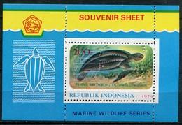 Indonesien Mi# Block 1 Postfrisch MNH - Fauna Turtle - Indonesia