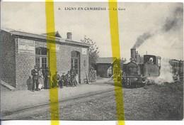 59 NORD LIGNY EN CAMBRESIS  Canton LE CATEAU GARE CHEMIN DE  FER TRAIN - France