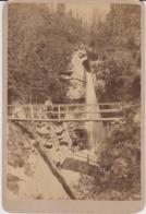Cabinet Photo On Cardboard - Slovakia - Eperjes Presov - Atelier Divald Karoly - Karpathen Waterfall -1891 - 165/110 Mm - Slovaquie
