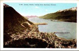 Alaska Juneau Looking Down Gastineau Channel - Juneau