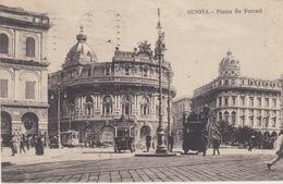 GENOVA - PIAZZA DE FERRARI - VIAGGIATA 1925 - Genova (Genoa)