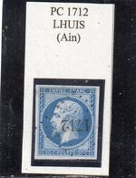 Ain - N° 14A Obl PC 1712 Lhuis - 1853-1860 Napoléon III
