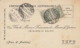 Arpino. 1917. Annullo Guller ARPINO (CASERTA), Su Cartolina Postale Commerciale - Marcofilía