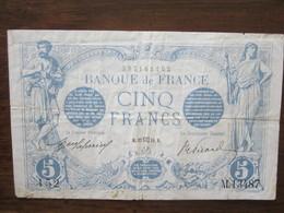 5 F BLEU 22/12/1916 TB+ - 1871-1952 Circulated During XXth