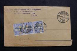 URUGUAY - Enveloppe ( Devant ) De Montevideo Pour La France En 1923, Affranchissement Perforés  , à Voir - L 54735 - Uruguay