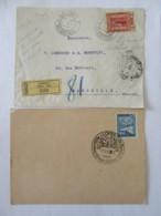 Autriche - Enveloppe Recommandée Salonique (cachet Ventimiglia Au Verso) + Carte Philatélique - 1912 Et 1946 - Autriche