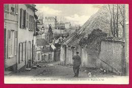 CPA Saint-Valéry Sur Somme - La Rue D'Argoules Et Derrière Du Magasin Au Sel - Saint Valery Sur Somme