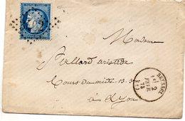 Ain - Env Sans Corresp Affr N° 60A (variété De Planchage) Obl GC 3402 - Càd Type 16 Seyssel - 1849-1876: Période Classique