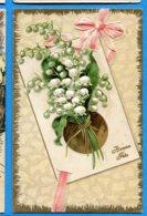 NY198, Bonne Fête, Muguet,fleur, Relief, Circulée Sous Enveloppe - Fêtes - Voeux