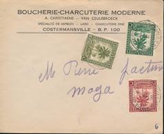 BELGIAN CONGO INLAND COVER COSTERMANSVILLE 1944 - Congo Belge
