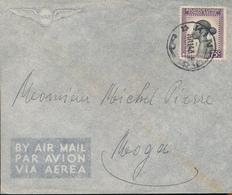 BELGIAN CONGO INLAND COVER FROM KINDU 1943 TO MOGA - Congo Belge