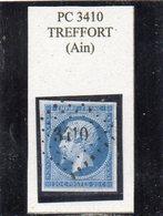 Ain - N° 14A Obl PC 3410 Treffort - 1853-1860 Napoléon III