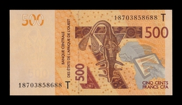 West African St. Togo 500 Francs CFA 2018 Pick 819Tg SC UNC - Togo
