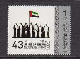 2014 United Arab Emirates  National Day Flag  Set Of 1 MNH - Emirati Arabi Uniti