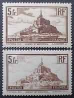 R1513/47 - 1929 - MONT SAINT MICHEL - N°260 (II) NEUF** + N°260 (I) NEUF** LUXE - Cote (2020) : 95,00 € - Unused Stamps
