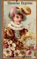 CHROMO CHOCOLAT GRONDARD FEMME FLEUR - Chocolat