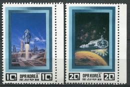 Nord Korea Mi# 2255-6 Postfrisch MNH - Space - Korea, North
