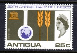 ANTIGUA - 1966 UNESCO 25c STAMP FINE MNH ** SG 197 - Antigua & Barbuda (...-1981)