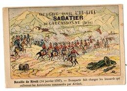 Chromo Bataille De Rivoli, Napoléon, L'or-Kina, Sabatier, Carcassonne, Militaire, Guerre - Other