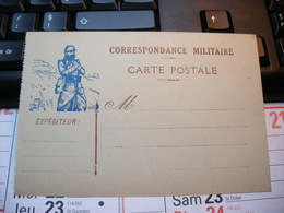 Carte Postale Correspondance Militaire Vierge - Guerre 1914-18