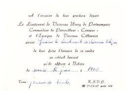 """LIEUTENANT DE VAISSEAU UROOY DE PORTZAMPARC COMMANDANT LE PATROUILLEUR """"CANOPUS""""ET ENSEIGNE DE VAISSEAU - Documents"""