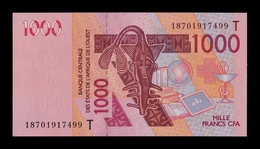 West African St. Togo 1000 Francs CFA 2018 Pick 815Tr SC UNC - Togo
