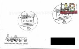 SPAIN. POSTMARK FIRST RAILROAD BARCELONA-MATARO. 2020 - Ohne Zuordnung